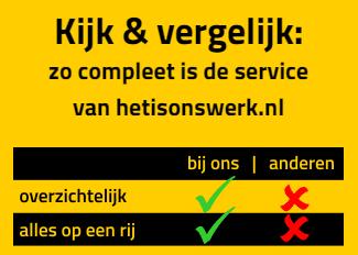 Ontwerp voor website en drukwerk - Hetisonswerk.nl